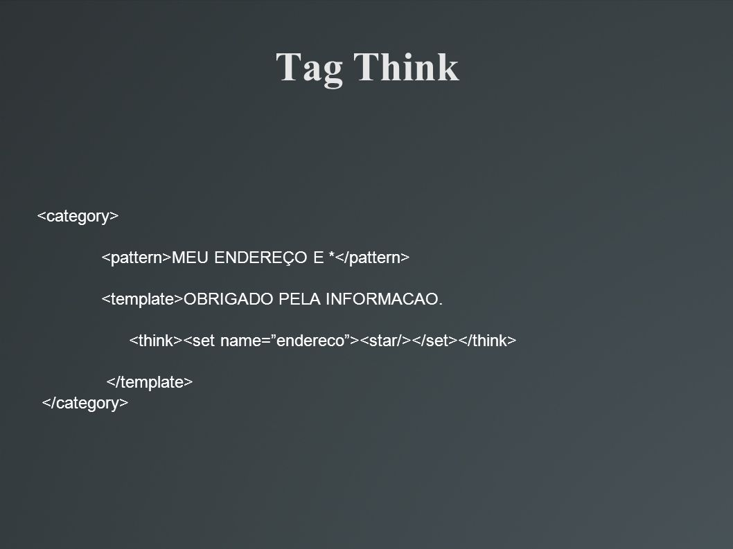 Tag Think <category>