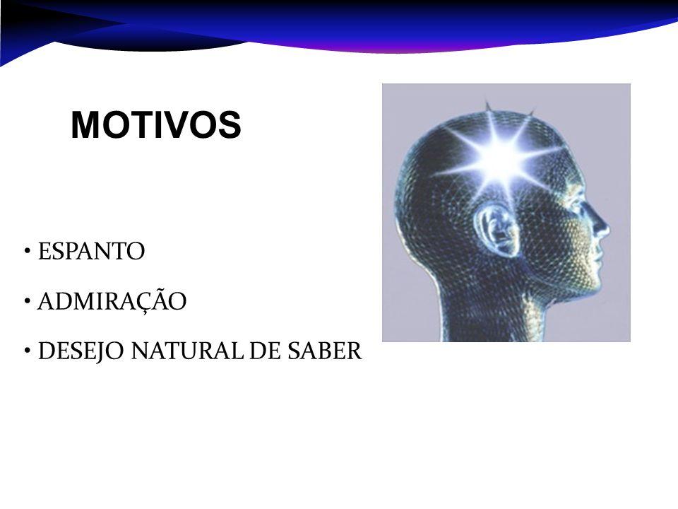 • ESPANTO • ADMIRAÇÃO • DESEJO NATURAL DE SABER