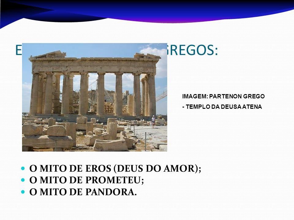 EXEMPLOS DE MITOS GREGOS: