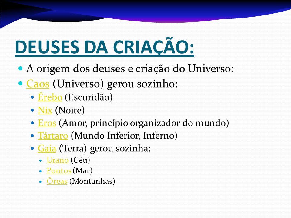DEUSES DA CRIAÇÃO: A origem dos deuses e criação do Universo: