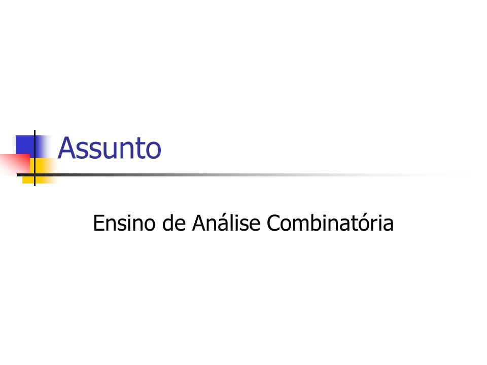 Ensino de Análise Combinatória