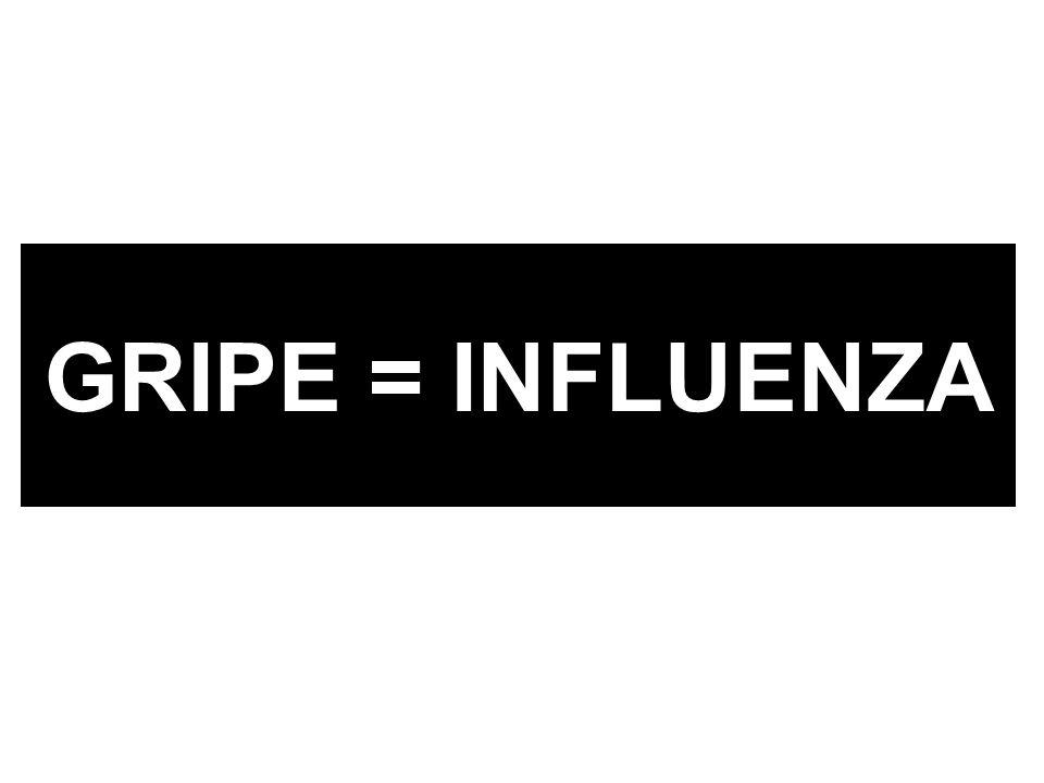 GRIPE = INFLUENZA
