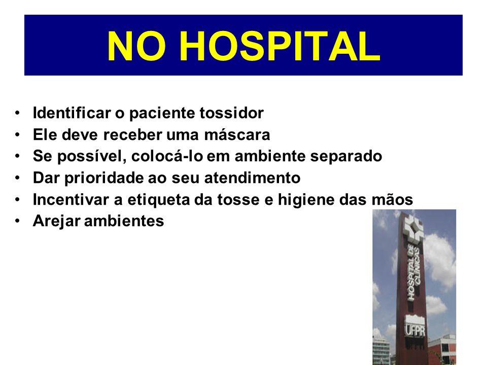 NO HOSPITAL Identificar o paciente tossidor