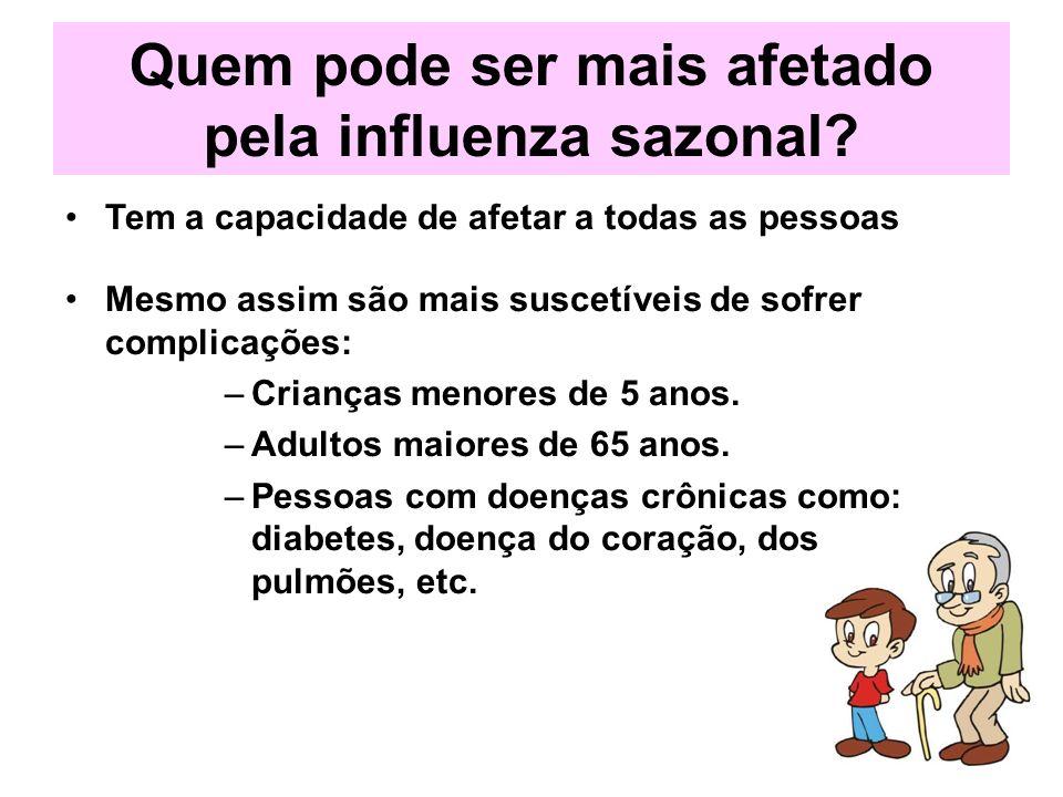 Quem pode ser mais afetado pela influenza sazonal