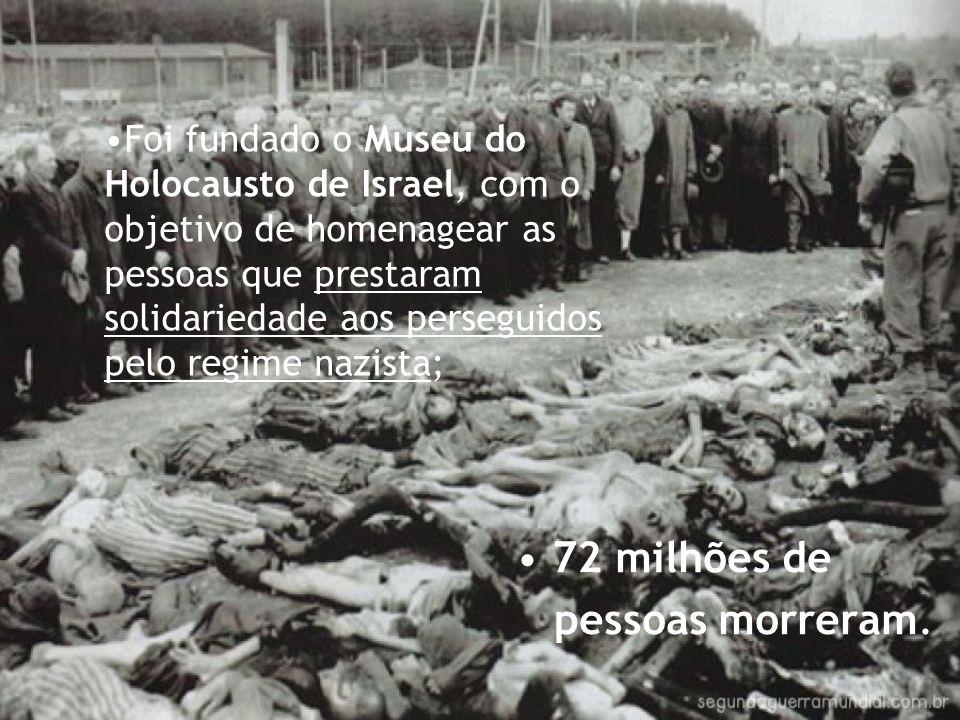 72 milhões de pessoas morreram.