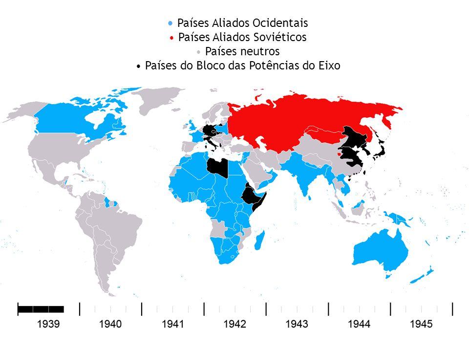 Países Aliados Ocidentais Países Aliados Soviéticos Países neutros