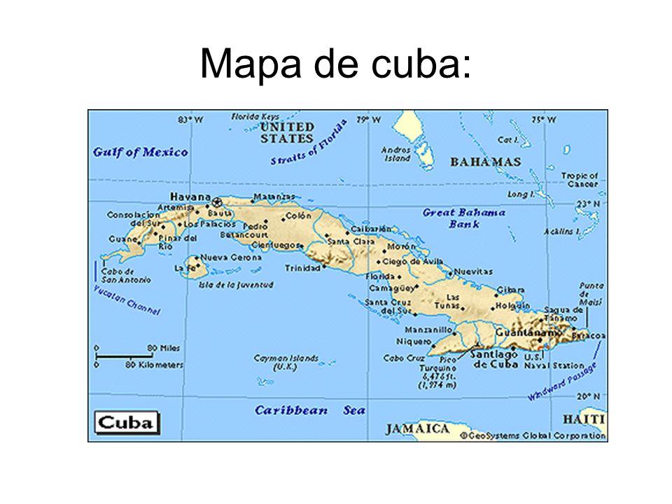 Mapa de cuba: