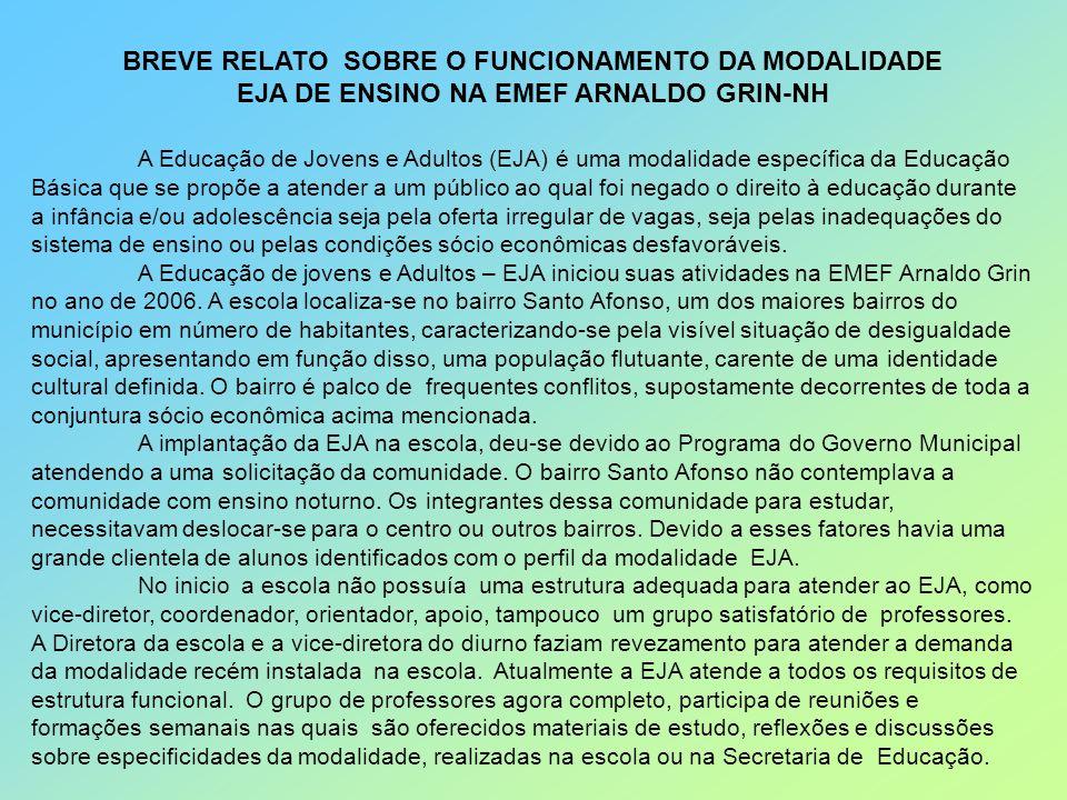 BREVE RELATO SOBRE O FUNCIONAMENTO DA MODALIDADE