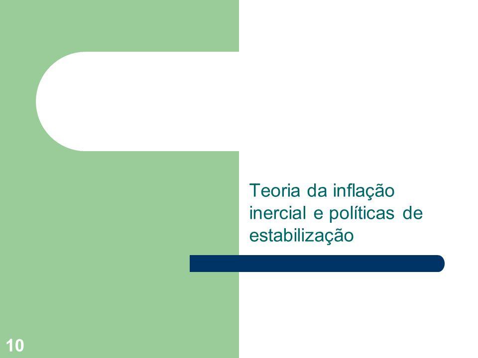 Teoria da inflação inercial e políticas de estabilização