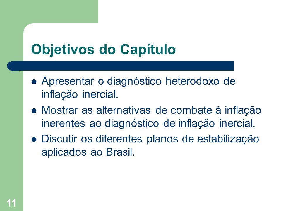 Objetivos do Capítulo Apresentar o diagnóstico heterodoxo de inflação inercial.