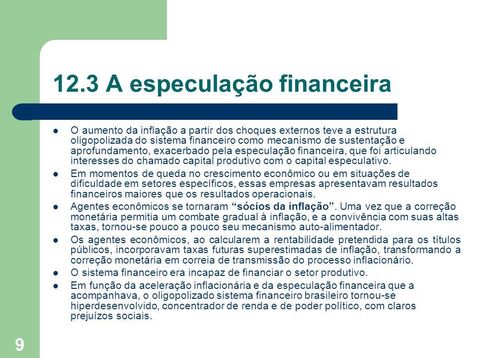 12.3 A especulação financeira