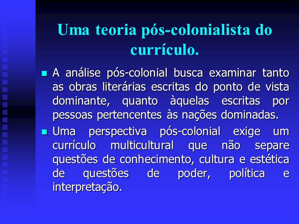 Uma teoria pós-colonialista do currículo.
