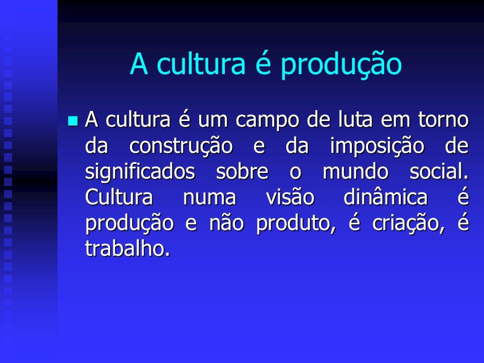 A cultura é produção