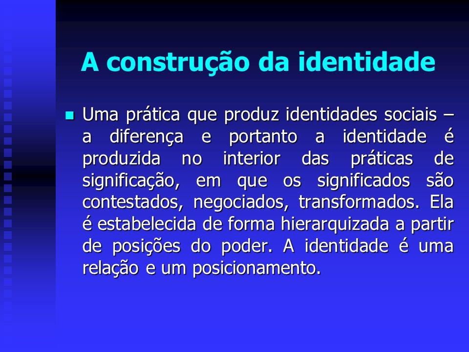 A construção da identidade