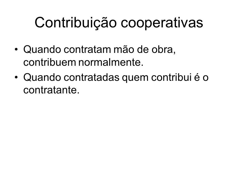 Contribuição cooperativas