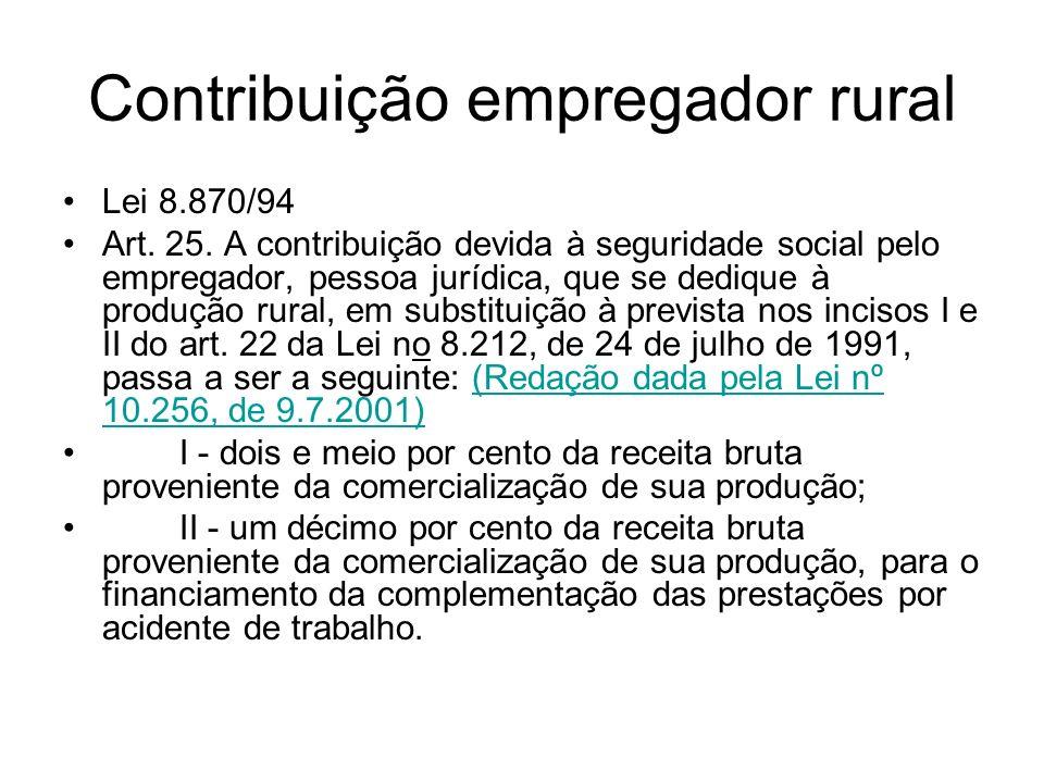 Contribuição empregador rural