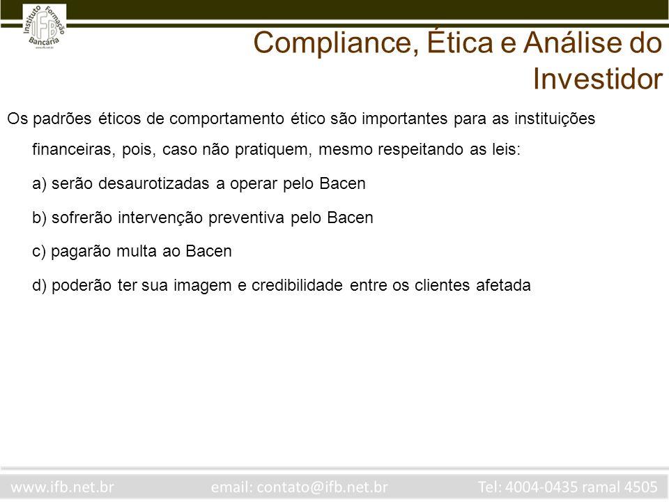 Compliance, Ética e Análise do Investidor