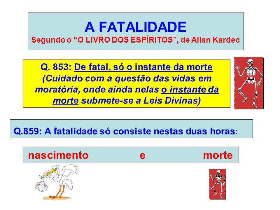 A FATALIDADE Segundo o O LIVRO DOS ESPÍRITOS , de Allan Kardec