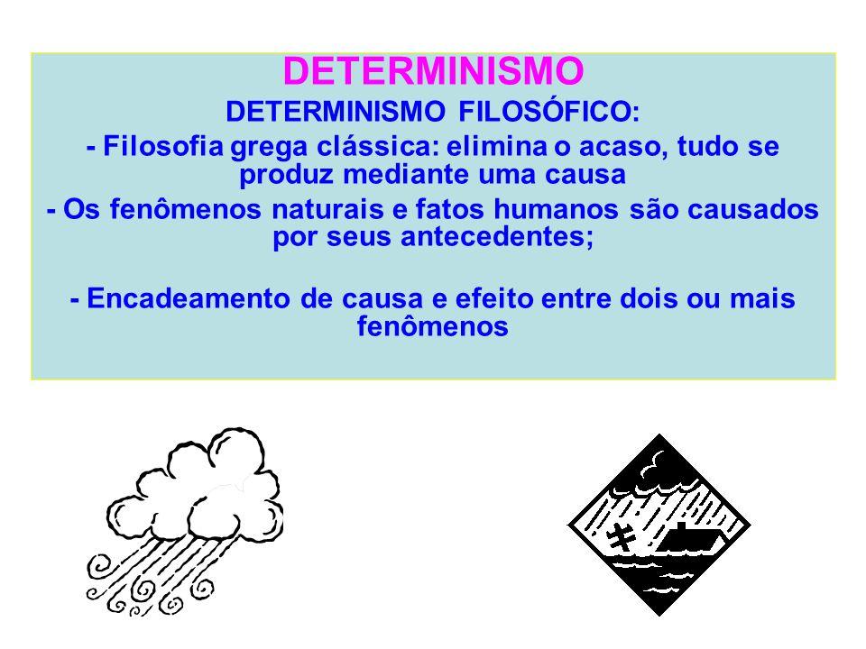 DETERMINISMO DETERMINISMO FILOSÓFICO: