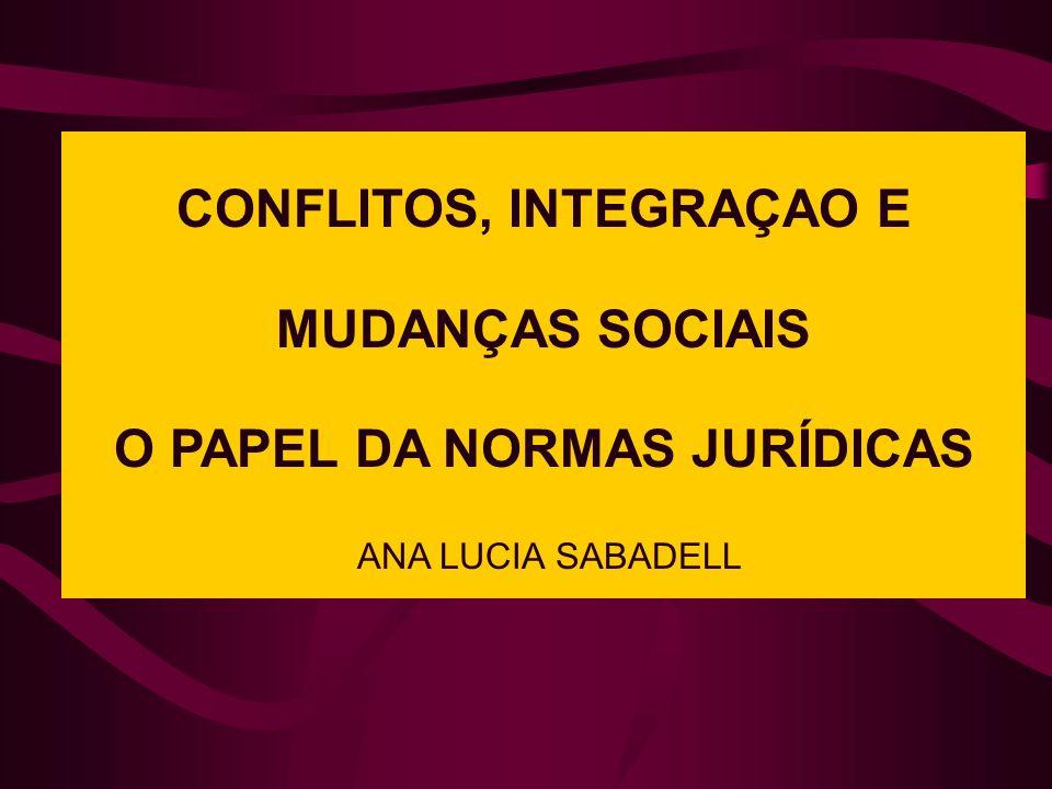 CONFLITOS, INTEGRAÇAO E MUDANÇAS SOCIAIS