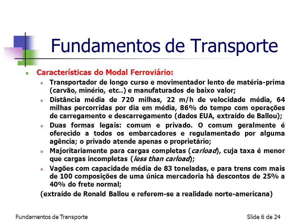Fundamentos de Transporte
