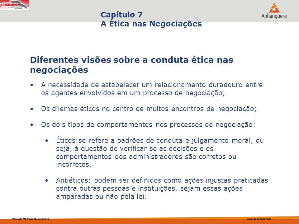 Diferentes visões sobre a conduta ética nas negociações