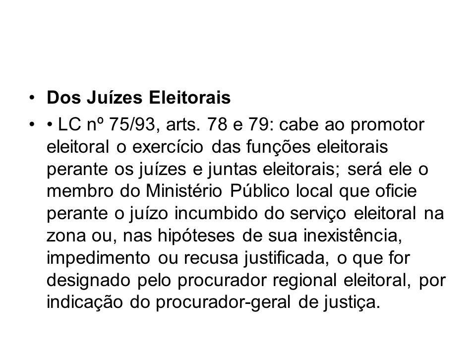 Dos Juízes Eleitorais