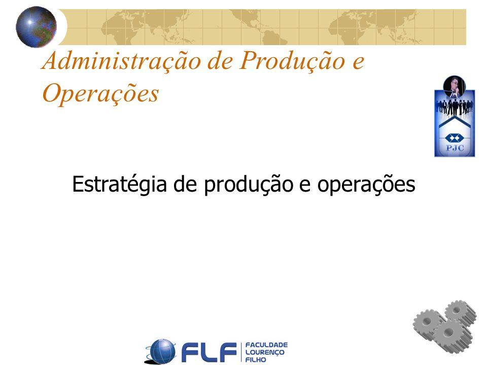 Estratégia de produção e operações