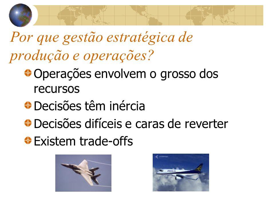 Por que gestão estratégica de produção e operações