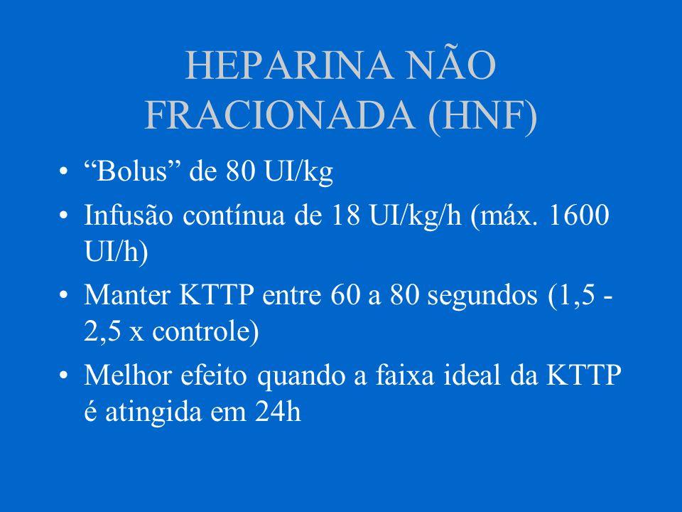 HEPARINA NÃO FRACIONADA (HNF)