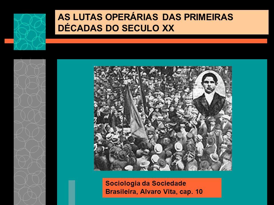 AS LUTAS OPERÁRIAS DAS PRIMEIRAS DÉCADAS DO SECULO XX