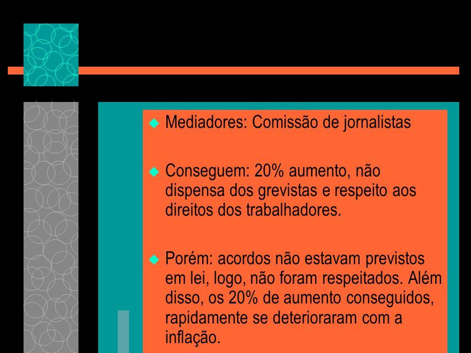 Mediadores: Comissão de jornalistas