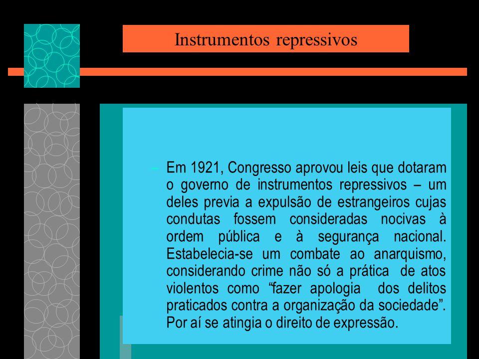 Instrumentos repressivos