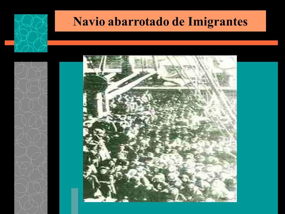 Navio abarrotado de Imigrantes