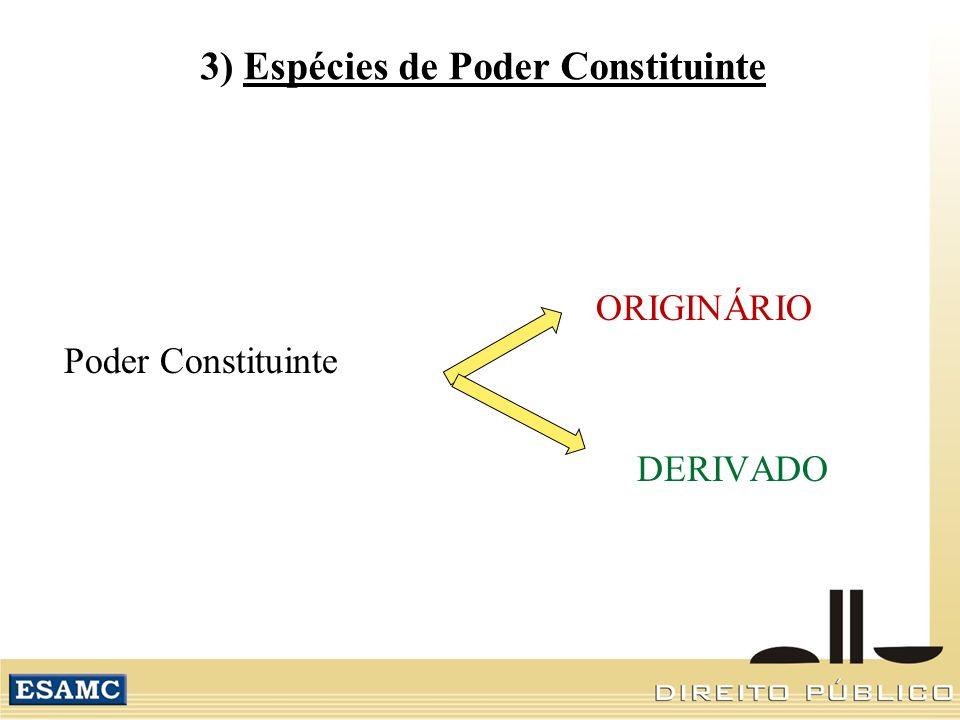 3) Espécies de Poder Constituinte