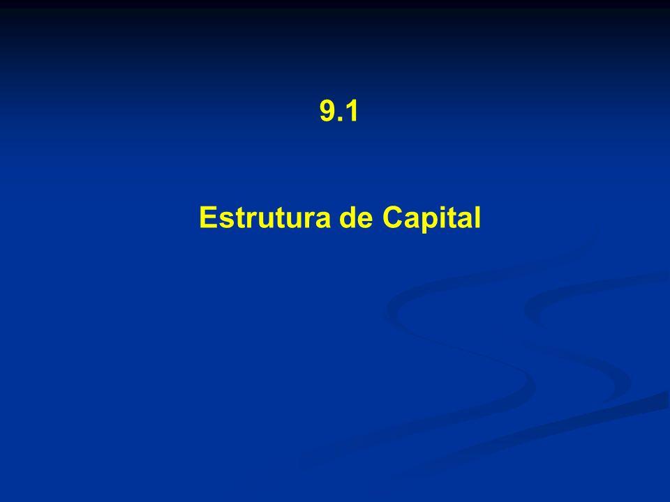 9.1 Estrutura de Capital