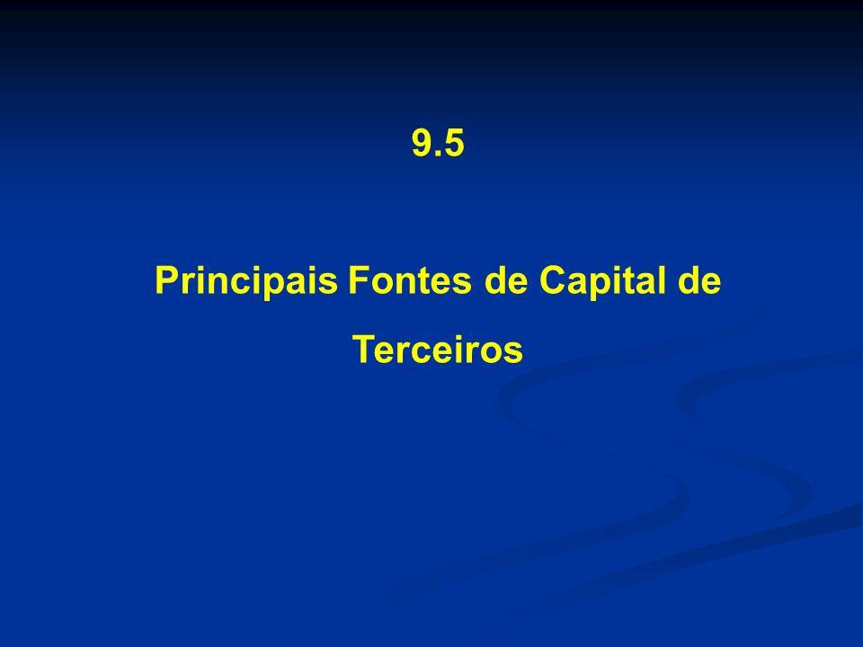 Principais Fontes de Capital de Terceiros