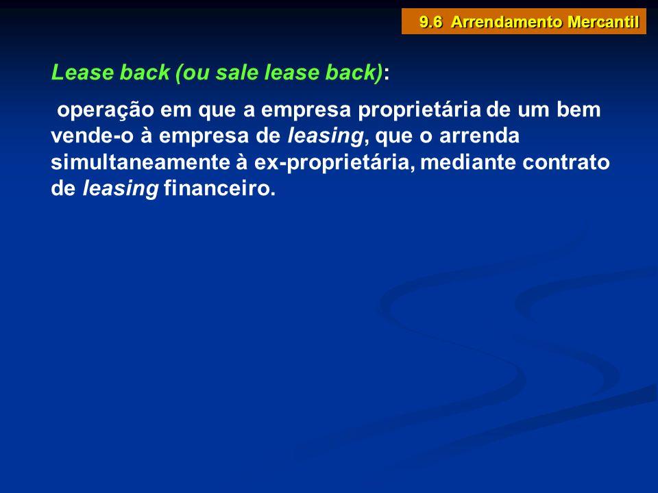 Lease back (ou sale lease back):