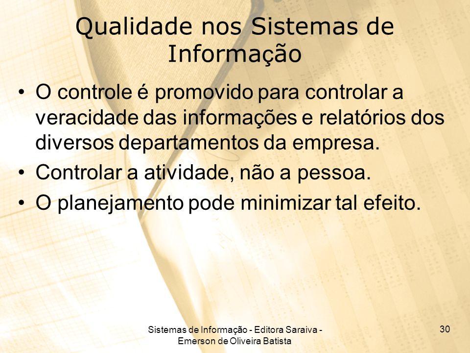 Qualidade nos Sistemas de Informação