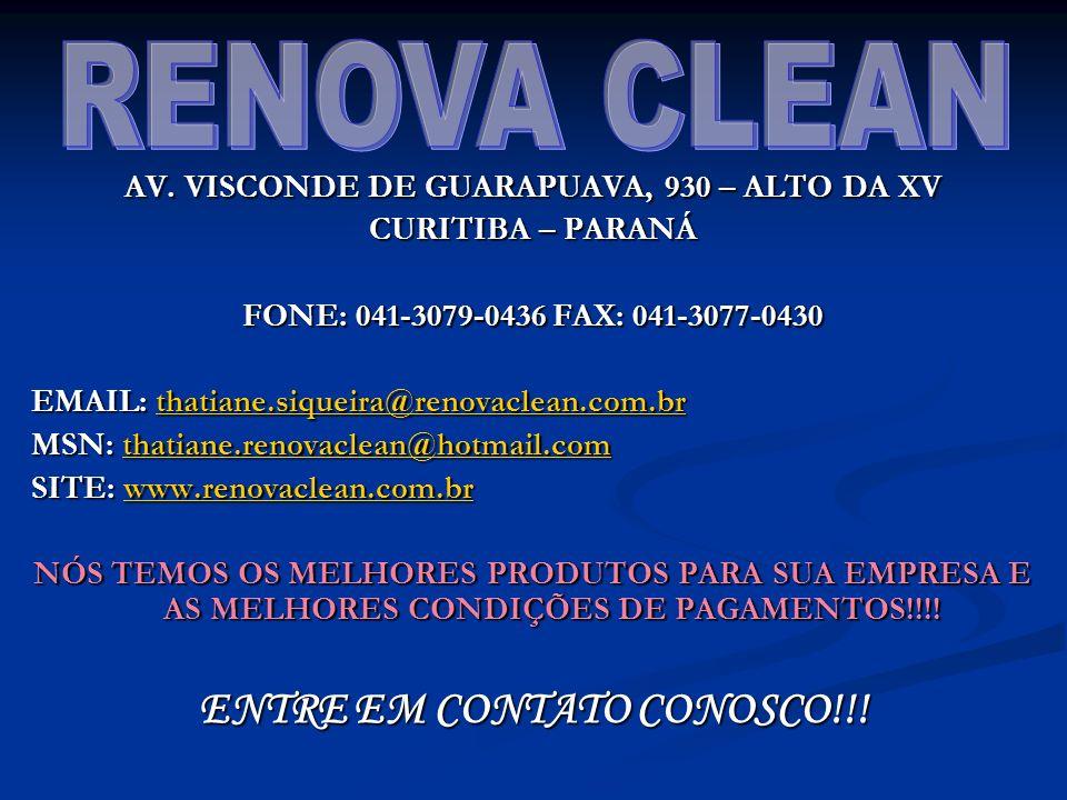 RENOVA CLEAN ENTRE EM CONTATO CONOSCO!!!