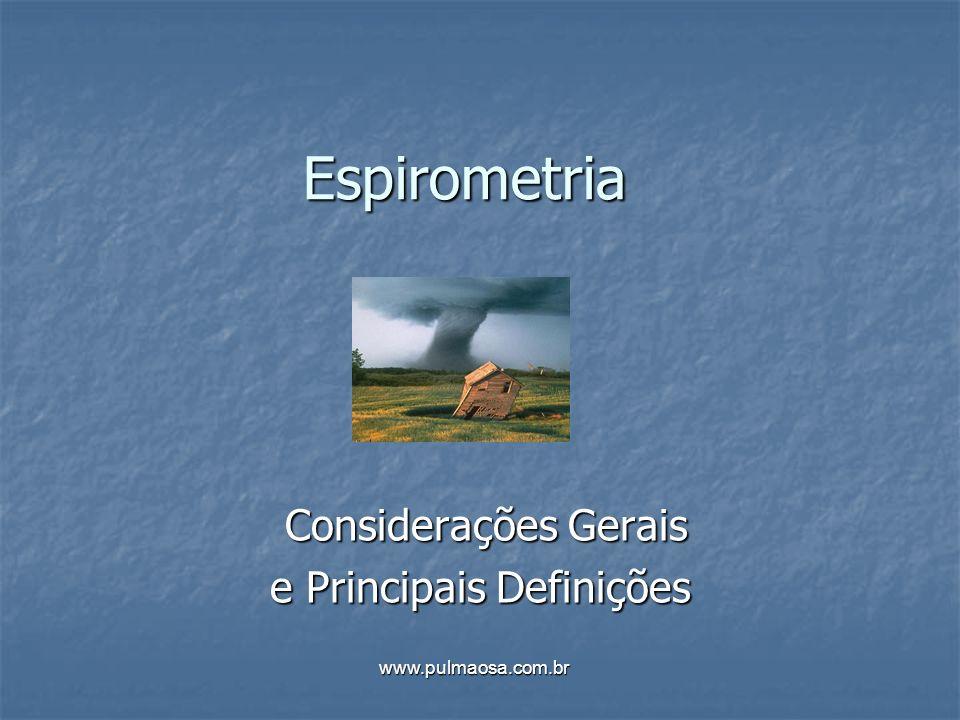 Considerações Gerais e Principais Definições