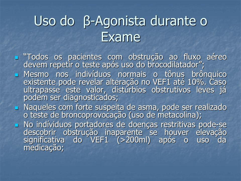 Uso do β-Agonista durante o Exame