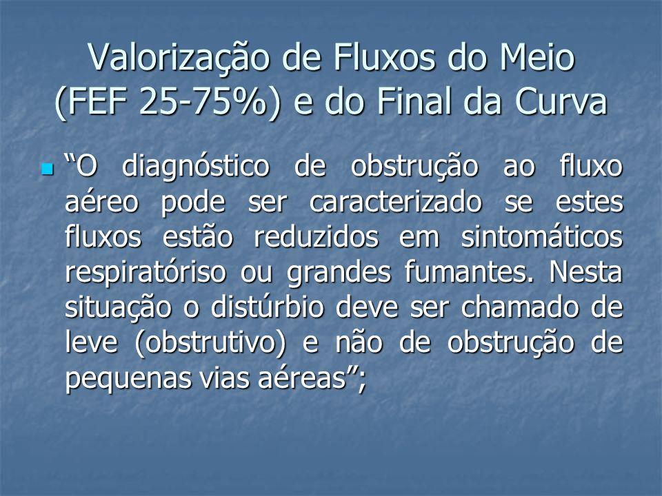 Valorização de Fluxos do Meio (FEF 25-75%) e do Final da Curva