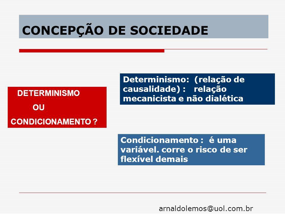 CONCEPÇÃO DE SOCIEDADE