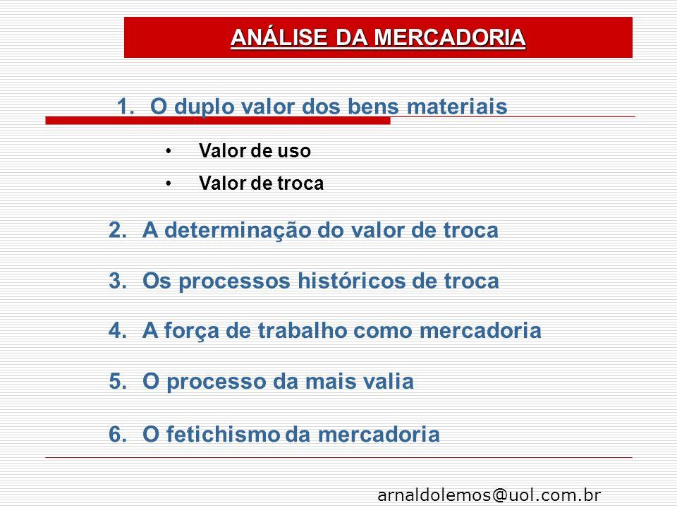 O duplo valor dos bens materiais