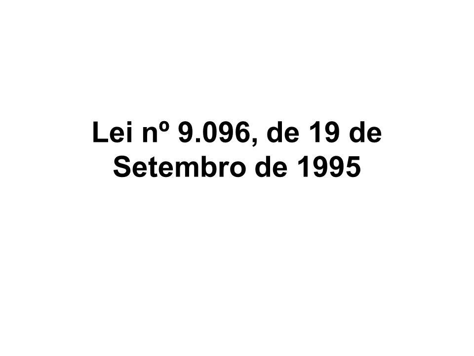 Lei nº 9.096, de 19 de Setembro de 1995