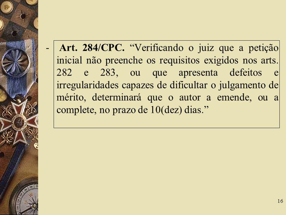 - Art. 284/CPC.