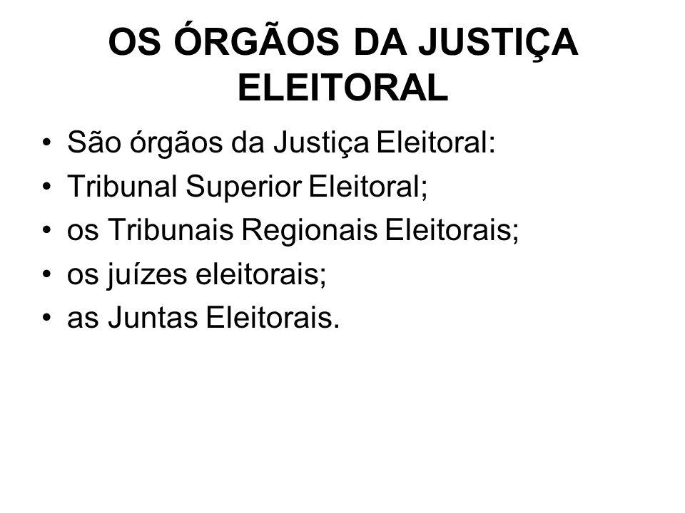 OS ÓRGÃOS DA JUSTIÇA ELEITORAL