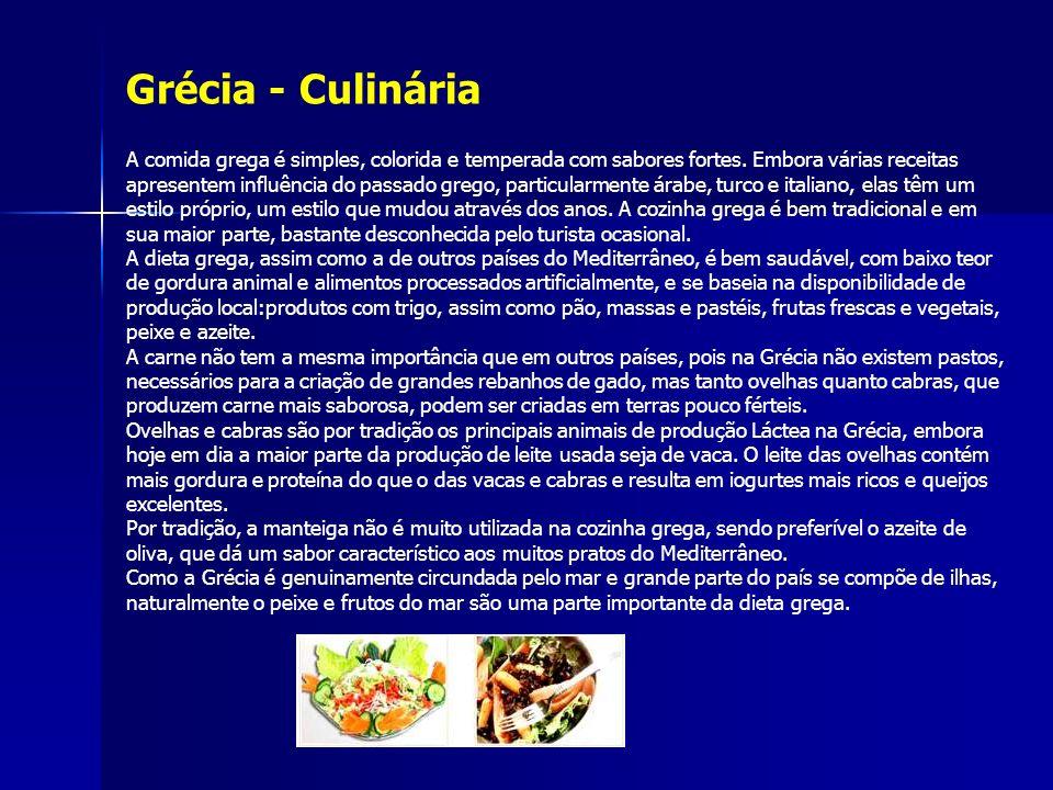 Grécia - Culinária