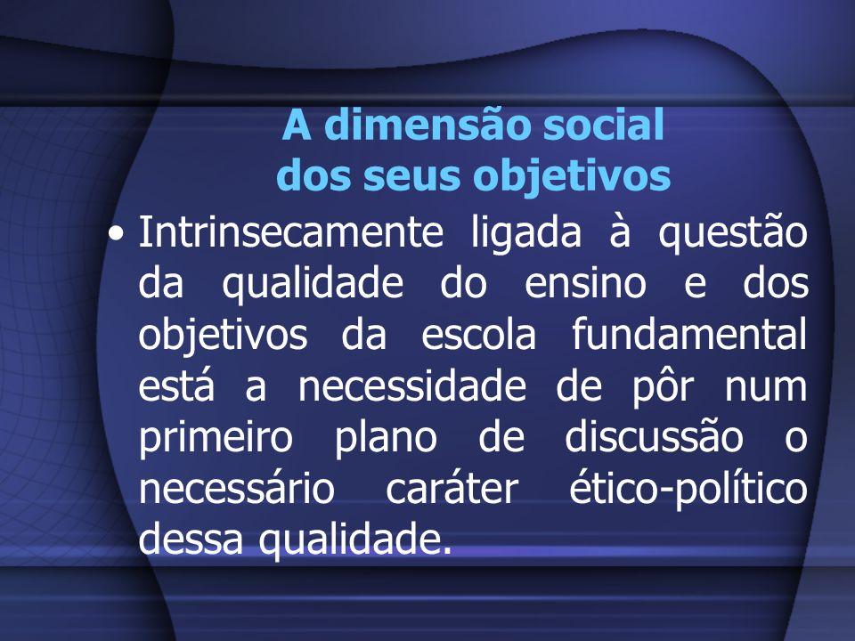 A dimensão social dos seus objetivos